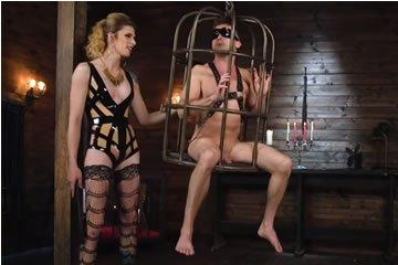 TS domina fucks her submissive toyboy